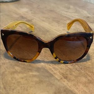 Prada Cat-Eye Sunglasses, Tortoise/Gold ✨